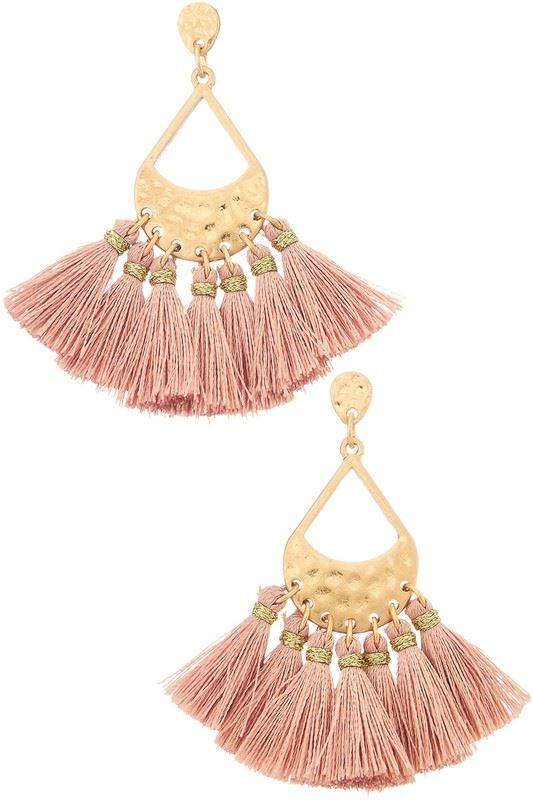 Golden Asp Fancy Fringe Drop Earring