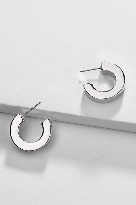 Golden Asp Mini Hoop Stud Earrings