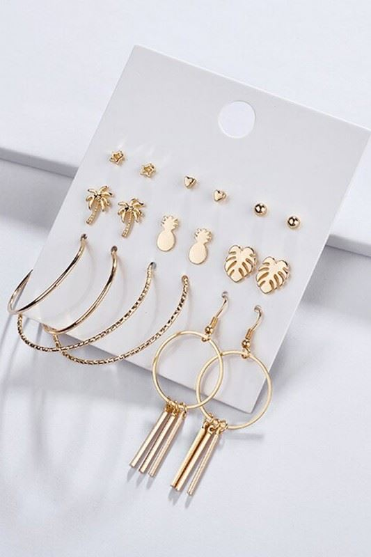 Golden Asp Island Vibes Statement Earring Set