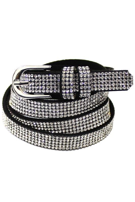 Golden Asp Black Rhinestone Belt