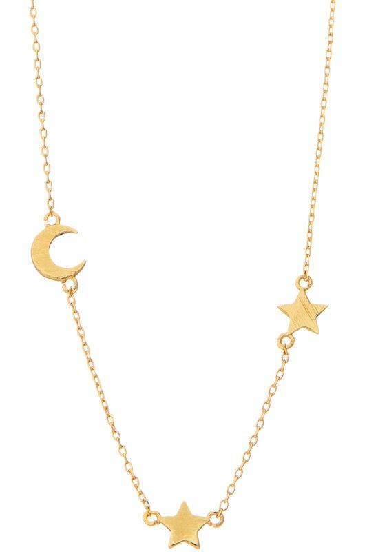 Golden Asp I Love You to the Moon and Back Necklace