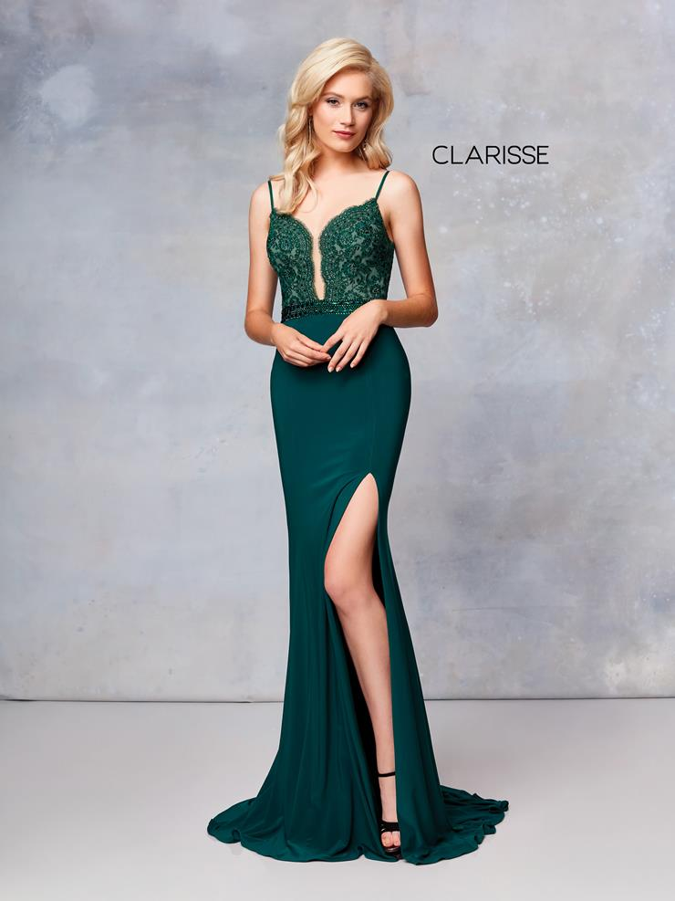 Clarisse Prom Dresses Sexy Low Cut Emerald Green Dress